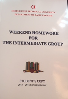 weekend homework metu intermediate